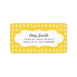 Colorful Pattern Geometric Yellow Address Labels