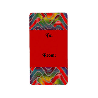colorful pattern gift tags address label