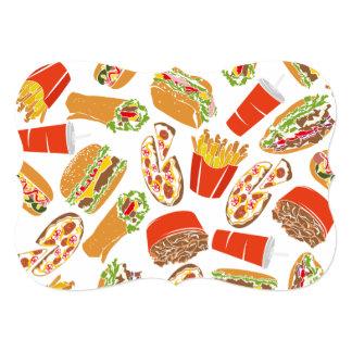 Colorful Pattern Illustration Fast Food Card