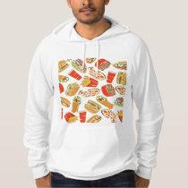 Colorful Pattern Illustration Fast Food Hoodie