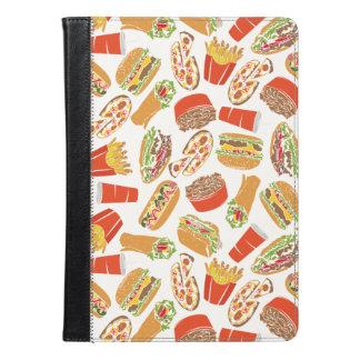 Colorful Pattern Illustration Fast Food iPad Air Case
