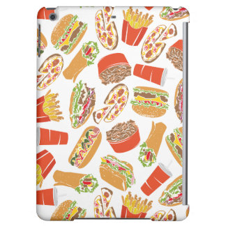 Colorful Pattern Illustration Fast Food iPad Air Cases