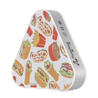 Colorful Pattern Illustration Fast Food Speaker