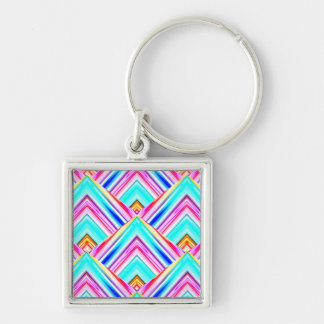 Colorful pattern illustration keychain