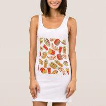 Colorful Pattern illustration nearly Food Sleeveless Dress