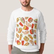 Colorful Pattern illustration nearly Food Sweatshirt
