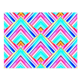 Colorful pattern illustration postcard