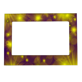 colorful pattern magnetic photo frame