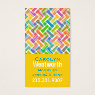 Colorful Pattern Mommy Networking Card