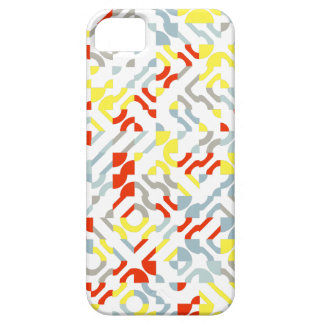 Colorful pattern of gray, yellow and red of geomet iPhone SE/5/5s case