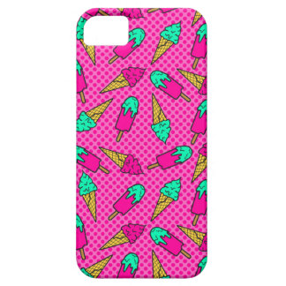 Colorful pattern of ice cream in pop art style iPhone SE/5/5s case