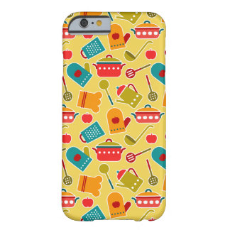 Colorful pattern of kitchen utensils barely there iPhone 6 case