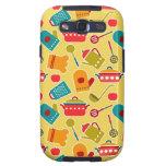 Colorful pattern of kitchen utensils samsung galaxy s3 case