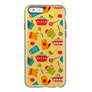 Colorful pattern of kitchen utensils incipio feather shine iPhone 6 case