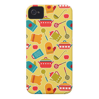 Colorful pattern of kitchen utensils iPhone 4 cover