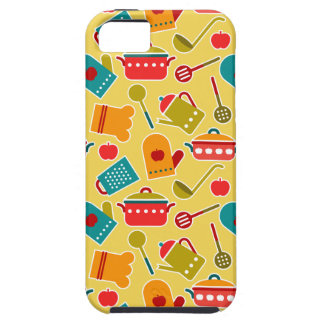 Colorful pattern of kitchen utensils iPhone SE/5/5s case