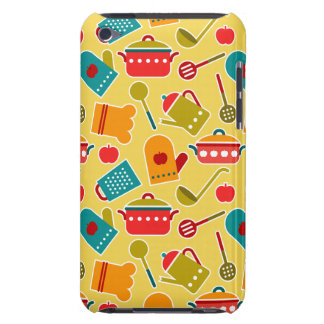 Colorful pattern of kitchen utensils iPod touch cover