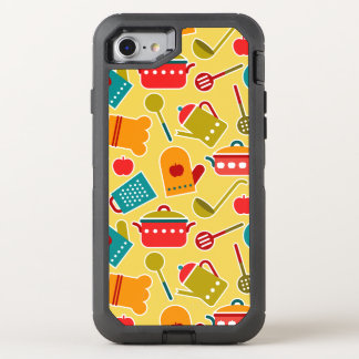 Colorful pattern of kitchen utensils OtterBox defender iPhone 8/7 case