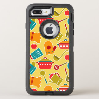 Colorful pattern of kitchen utensils OtterBox defender iPhone 8 plus/7 plus case