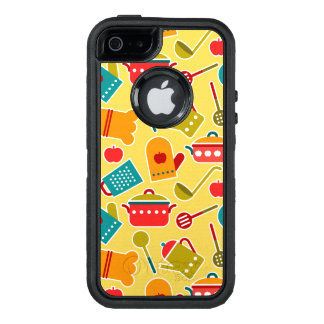 Colorful pattern of kitchen utensils OtterBox defender iPhone case