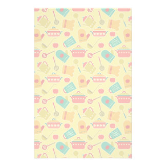 Colorful pattern of kitchen utensils stationery