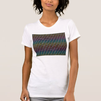 Colorful pattern on black background t shirt