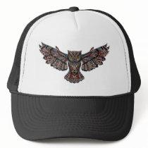 Colorful pattern Owl Trucker Hat