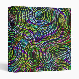Colorful Pattern Peace Love Party Destiny Digital Binder
