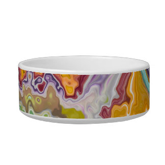 Colorful Pattern Cat Bowl