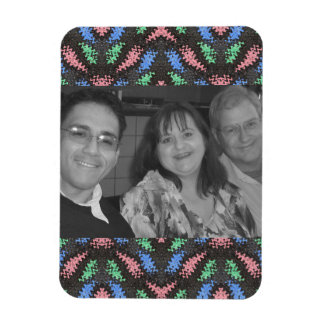 colorful pattern photoframe magnet