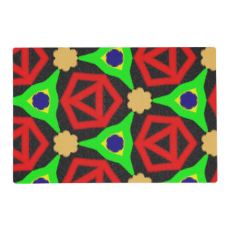 Colorful pattern placemat