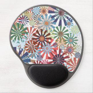 Colorful Pattern Radial Burst Pinwheel Design Gel Mouse Mat