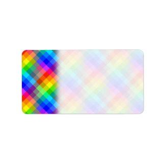 Colorful pattern. Rainbow Colors. Label