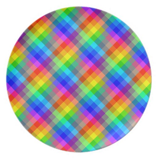 Colorful pattern. Rainbow Colors. Plate