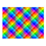 Colorful pattern. Rainbow Colors. Post Cards