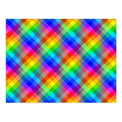 colorful pattern rainbow colors postcard zazzle. Black Bedroom Furniture Sets. Home Design Ideas