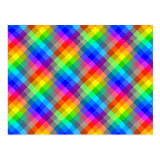 Colorful pattern. Rainbow Colors. Postcard