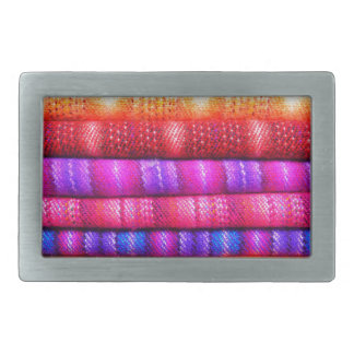 Colorful pattern rectangular belt buckle
