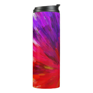 Colorful Pattern Red And Purple Asymmetrical Thermal Tumbler
