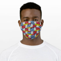Colorful Pattern Shields Adult Cloth Face Mask