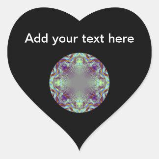Colorful pattern. heart sticker