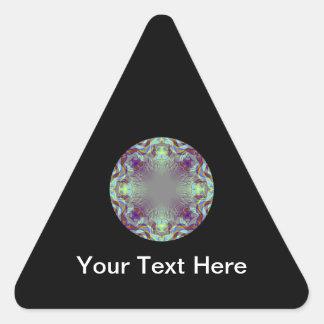 Colorful pattern. triangle sticker