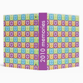 colorful pattern vinyl binders