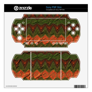 Colorful pattern with arrow shapes sony PSP slim decals