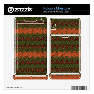 Colorful pattern with arrow shapes motorola milestone decal