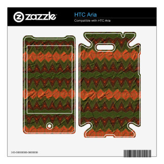 Colorful pattern with arrow shapes HTC aria decals