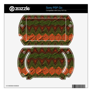 Colorful pattern with arrow shapes decals for PSP go