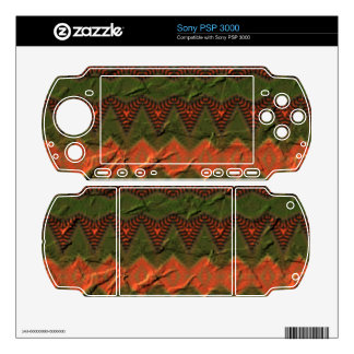 Colorful pattern with arrow shapes decals for sony PSP 3000