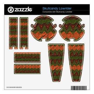 Colorful pattern with arrow shapes skullcandy decals
