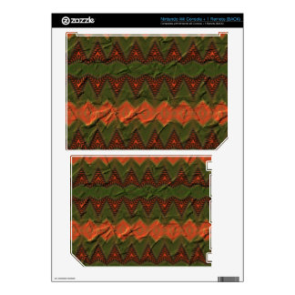 Colorful pattern with arrow shapes decal for wii